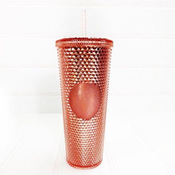 Starbucks Rose Gold Iridescent Studded Tumbler Cup
